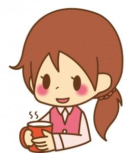 女性_事務コーヒー_01